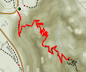 North Kaibab Trail to Supai Tunnel and Coconino Overlook Map