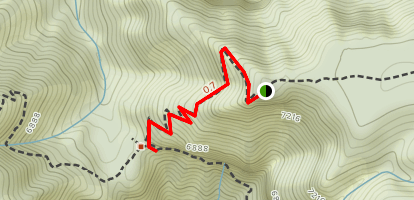 North Bass Trail to Muav Cabin Map