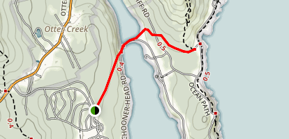 Quarry and Otter Cove Trails Map