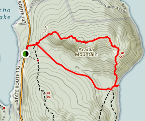 Acadia Mountain Trail Map