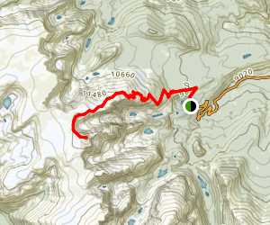 Hallett Peak Map