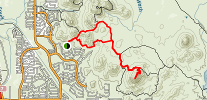 Union Peak Loop Map