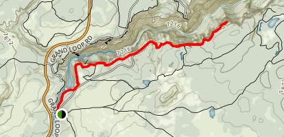 Canyon Rim South Trail to Point Sublime Map