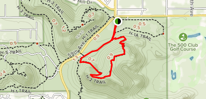 Arrowhead Point Trail Map