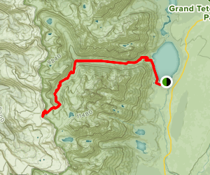 Cascade Canyon to Hurricane Pass Trail Map
