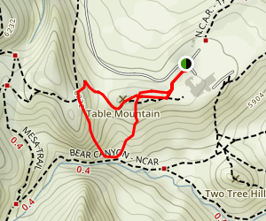 Walter Orr Roberts Weather Trail Map
