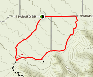 Tom's Thumb, Feldspar, and Marcus Landslide Loop Map