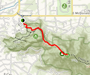 Camelback Mountain Via Echo Canyon Trail Map