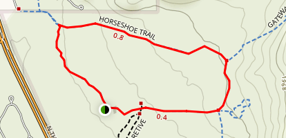 Horseshoe Loop Hike Map
