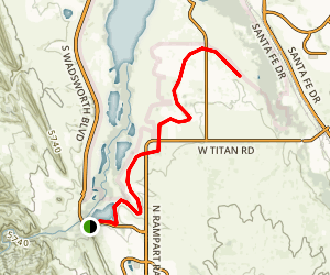 High Line Canal Trail: Waterton Canyon Map