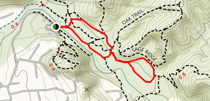 Santiago Creek Trail Loop Map
