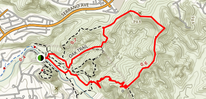 Robber's Peak Loop Trail Map