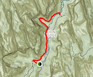 West Bank of the Virgin River  Map