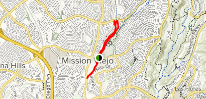 Mission Viejo's Oso Creek Trail Map