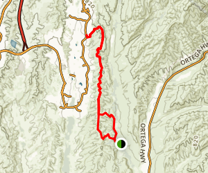 West Ridge and Oak Trail Loop Map