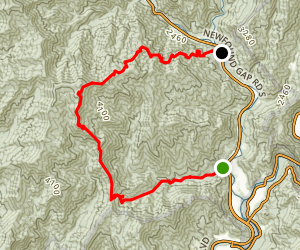 Mingus Mill and Newton Bald Trail Map