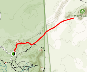 Mollys Castle Spur Trail Map