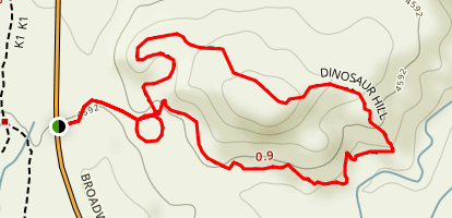 Dinosaur Hill Trail Map