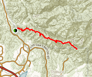Santiago Canyon Trail  Map