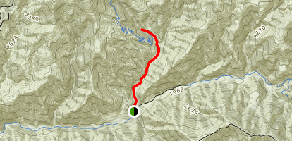Holy Jim Canyon Trail Map