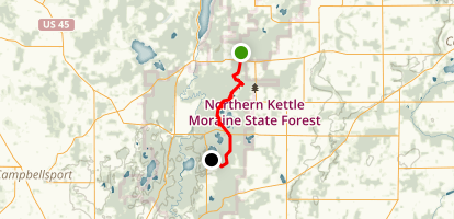 Ice Age Trail - Northern Unit Map
