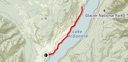 Lake McDonald Trail Map