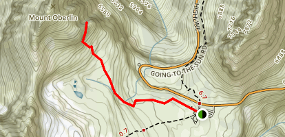 Mount Oberlin Trail Map