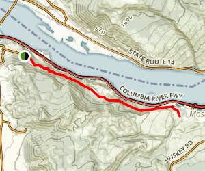 Historic Columbia River Highway State Trail - Hood River to Mosier Map