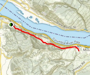Historic Columbia River Highway State Trail: Hood River to Mosier Map