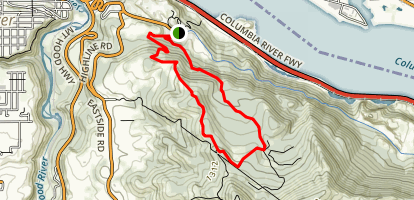 Bingen Gap Loop Trail [PRIVATE PROPERTY/CLOSED] Map