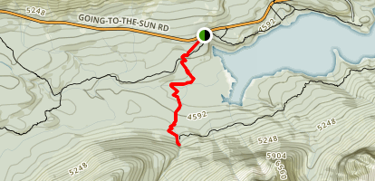 St. Mary and Virginia Falls Trail Map