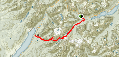 Gunsight Pass Trail Map