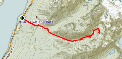 Sperry Chalet Trail Map