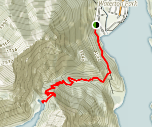Upper Bertha Falls and Bertha Lake Trail Map