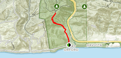 Beach to Wind Caves and Backcountry Trail Map
