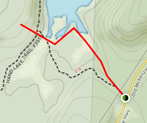 Hand Lake Trail Map