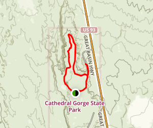 Cathedral Gorge Trail Map