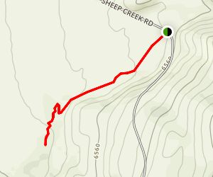 Lower Sheep Creek Canyon Map