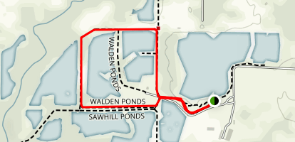 Walden Ponds Wildlife Habitat Trail Map