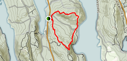 Acadia Mountain and St. Sauveur Mountain Trail Loop Map