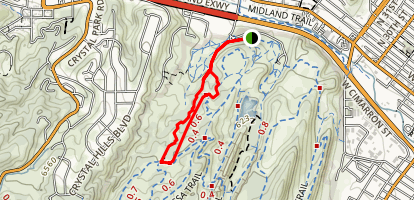 Contemplative Trail to Sand Canyon Trail Loop Map
