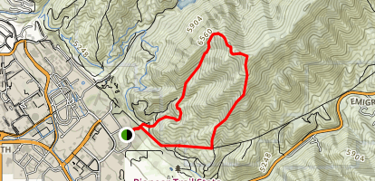 Red Butte and Mount Wire Map