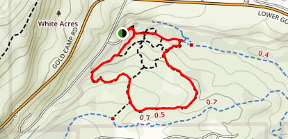Coyote Gulch Trail and Creekbottom Loop Map