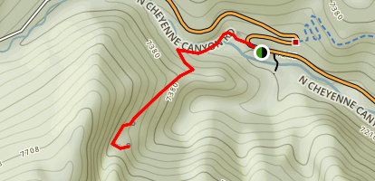 Silver Cascade Falls Trail Map