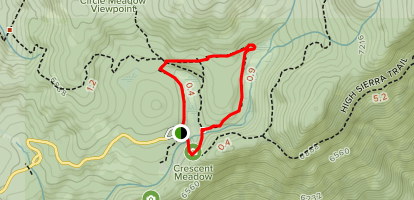 Crescent and Log Meadows Trail Map