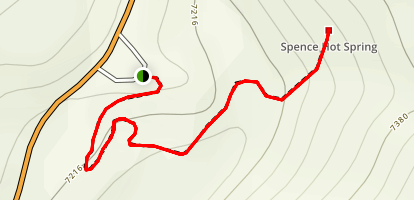Spence Hot Springs Trail Map