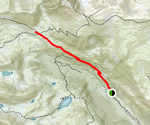 Fourth of July Mine via Arapaho Pass Trail Map