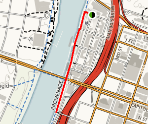 Old Sacramento and Capitol Promenade Map