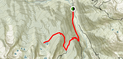 First Mosquito Lake Trail Map