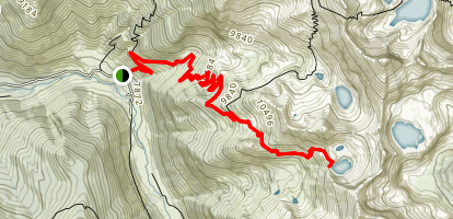 Sawtooth Pass trail to Crystal Lake Map